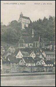 Hirschhorn am Neckar Schloss und alte Kirche ngl 140.172