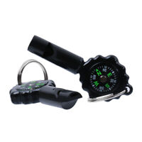 2pcs Climbing Whistle Compass with Keychain Outdoor Multifunction Campass