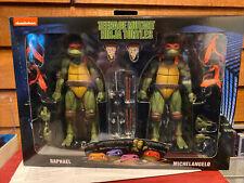 neca tmnt 2 Pack Raphael & Michelangelo SEALED