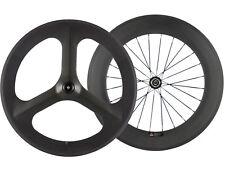 70mm Tri Spoke Front Wheels 88mm Rear Carbon Wheelset Road Bike Wheels 700C Race