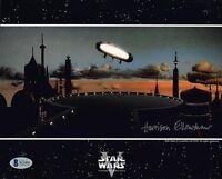 HARRISON ELLENSHAW SIGNED 8x10 PHOTO MATTE ARTIST STAR WARS RARE BECKETT BAS