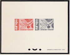 épreuve de luxe  collective  paire Europa     de  1965   num: 1455/56