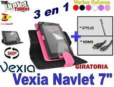 """PACK FUNDA GIRATORIA PARA TABLET VEXIA NAVLET 7"""" + HDMI + STLYUS 1 Y 2"""