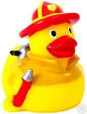 FIREFIGHTER RUBBER DUCKY  - STYLE #2 RED Fire Helmet Rubber Duckie