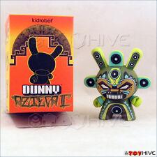 Kidrobot Dunny 2011 Azteca II 2 vinyl figure MInigod by Marka27 with box & card