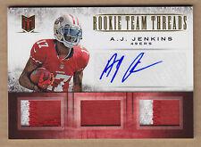12 2012 Momentum Triple A.J. AJ Jenkins 2C Jersey Patch Auto RC Autograph /10