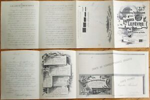 French 'Cartes De Visite' 1890 Advertising Brochure from Printer / Lithographer