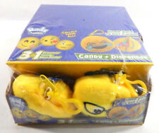 Display Box of (12) Radz Plusheez 3 in 1 Dispenser Candy Plush Emoji's