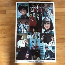 "Vintage 1976 Donny and Marie Osmond Collage Poster 23"" x 35"" #3474 Osbro Usa"