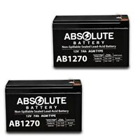 2 PACK NEW AB1270 12V 7AH UPS Battery for Guardian Douglas DG12-6.5