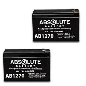 2 PACK NEW 12V 7AH 7.5ah 8ah 12 Volt SLA Sealed Lead Acid Fish Finder Battery