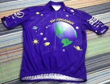 "Vomax Bright Purple/Plum 2006 Bicycle Cyclist Bike Jersey Shirt 22"" Pit-Pit ~Euc"