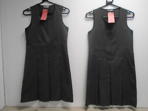 Marks and Spencer  Zip Front Grey school pinafore dresses age 10-11 years BNWT