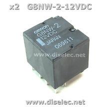 2 Relés G8NW-2-12 ( G8NW-2-12VDC ) Omron - automoción - 16V - 30A - nuevo