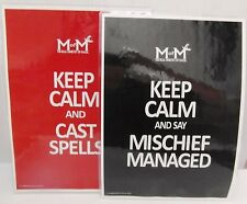 2 KEEP CALM AND MISCHIEF MANAGED  CAST SPELLS   Harry Potter from UK posters