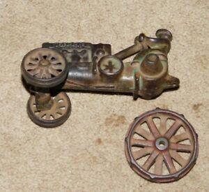 Super rare Wallis Cast Iron tractor for repair or parts