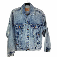 Levi's Men Acid Wash Trucker Denim Jean Jacket 70507 0219 Size XS USA VINTAGE