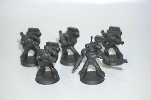 Warhammer 40k Space Marine Devastator Squad x 5 - LOT 161