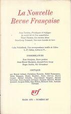 LA NOUVELLE REVUE FRANCAISE n° 267.  Mars 1975 . DISSEMBLANCES