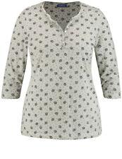 Samoon Henley-Shirt aus Baumwolle by Gerry Weber Neu 3/4 Arm Shirt Damen Gr.46