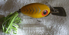 VINTAGE ARBOGAST ARBO-GASTER LURE   7/24/14  NEW SOFT TAIL YELLOW
