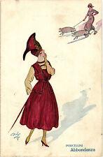 """Minos (Mario Gazzera) - Art Deco - """"Donnina"""", Pretty Lady - Porcellini - M008"""