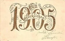 BG20246  embossed viel gluck good luck 1905 new year  germany