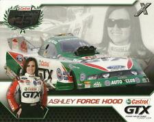 2010 Ashley Force Hood Castrol Ford Mustang Funny Car NHRA postcard