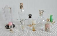 9 Vintage Mostly Miniature Perfume Bottles Empty France