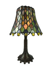 GREEN CONFETTI SML TIFFANY STYLE TABLE LAMP LEADLIGHT -WILL SHIP AUSTRALIA WIDE