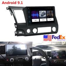 """For 2006-11 Honda Civic 10.1"""" Android 9.1 Stereo Radio Gps Navigation 2+32Gb Usa"""