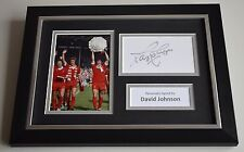 David Johnson Signed A4 FRAMED photo Autograph display Liverpool Football & COA