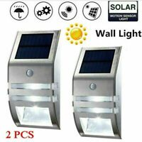 4X LED Solar Power Light PIR Motion Sensor Security Outdoor Garden Wall Lamp QE