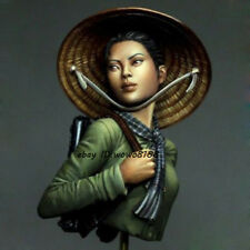 New 1/12 Scale Vietnamese Female Soldier Resin Kit Figure Bust Model Garage Kit