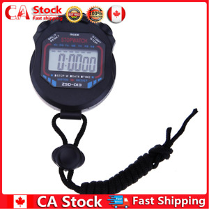 Electronic Stopwatch Digital LCD Chronograph Sports Stopwatch Timer CA