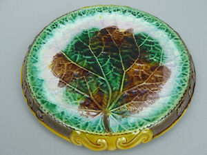 Antique Victorian Majolica Waste Not Want Not Begonia Tray Ex Karmason Colection