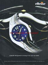 Ellesse Liberte Watch 2001Magazine Advert #1241
