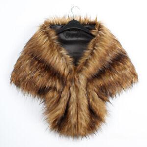 Fancy Lady Winter Faux Fur Scarf Neck Warmer Wrap Extra Large Collar Shawl Stole