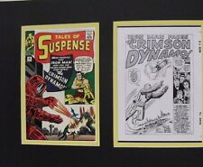 Production Art Splash Page DON HECK Tales of Suspense #46 matted w/cover print