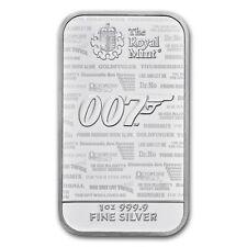 GRANDE BRETAGNE Lingot Argent 1 Once James Bond 007 2020 - No Time to Die