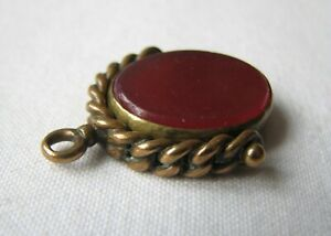 Antique Bloodstone And Carnelian  Swivel Fob For Pocket Watch