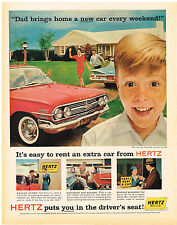 Vintage 1960 Magazine Ad For Hertz Rent A Car Puts You In The Drivers Seat