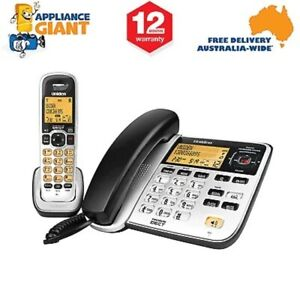 Uniden DECT2145+1 Twin Cord & Cordless Home Phone with Answering Machine