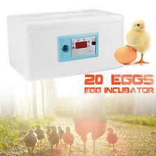 20 Eggs Automatic  Digital Incubator Poultry Chicken Hatcher Temperature Control