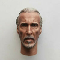 "Delicate Painting Hot 1/6 Prequel Trilogy Count Dooku Head Sculpt Fit 12"" Figure"