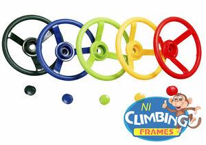 Plastic STEERING WHEEL Climbing Frame Playhouse Tree House Den Jungle Gym, kids