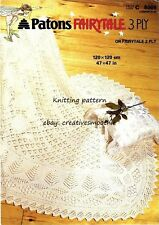 (372) Traditional Heirloom Baby Lace Shawl 3ply/ 2ply Knitting Pattern