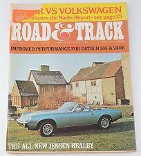 Road & Track April 1972: Ralph Nader vs VW, Camaro, Toyota Crown, Jensen-Healey