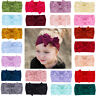 Girls Bow Hairband  Infant Stretch Turban Baby Nylon Headband Bowknot Headwrap