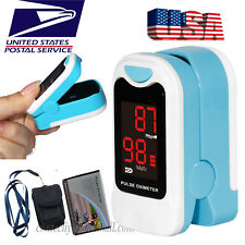 LED Finger Pulse Oximeter Heart Rate SPO2 Monitor Blood Oxygen Meter Sensor,FDA